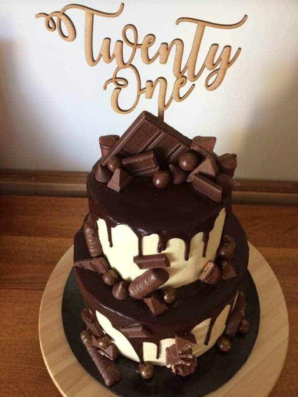 Twenty One Cake topper 1