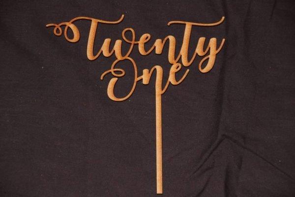 Twenty One Cake topper 2
