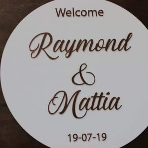 personalised wedding signs