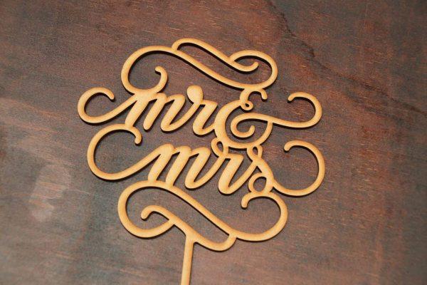 Mr & Mrs - Cake Topper - Design 1 1