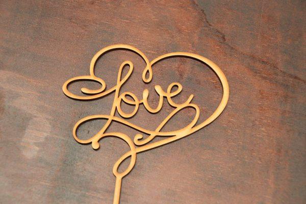 Love – Cake Topper – Design 2 1