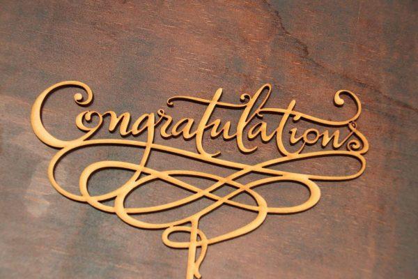 Congratulations - Cake Topper 1