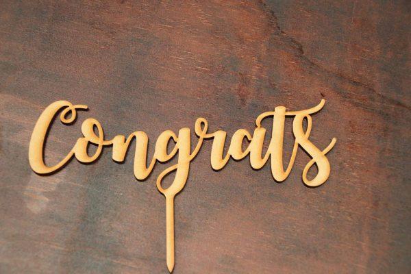 Congrats - Cake Topper 1