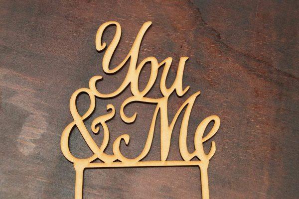 You & Me – Cake Topper 1