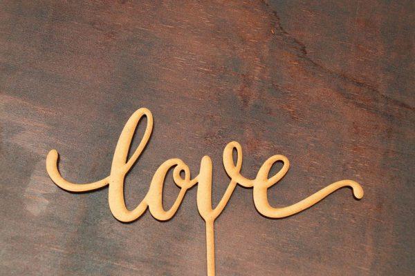 Love – Cake Topper – Design 3 1