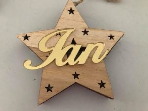 star-shaped-wood-decor-with-text-on-front