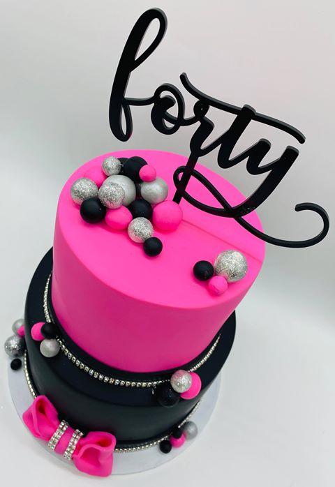 Forty - Birthday Cake Topper 1