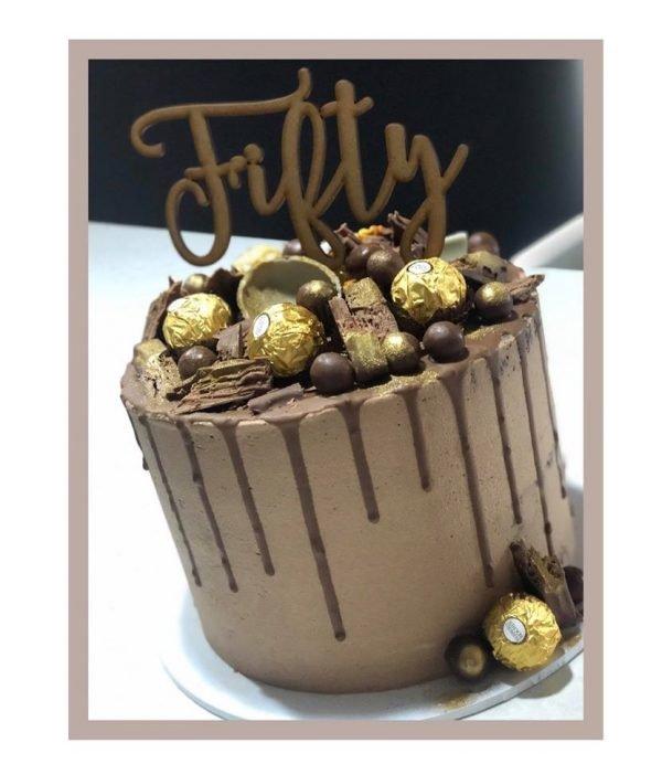 Fifty - Birthday Cake Topper 1